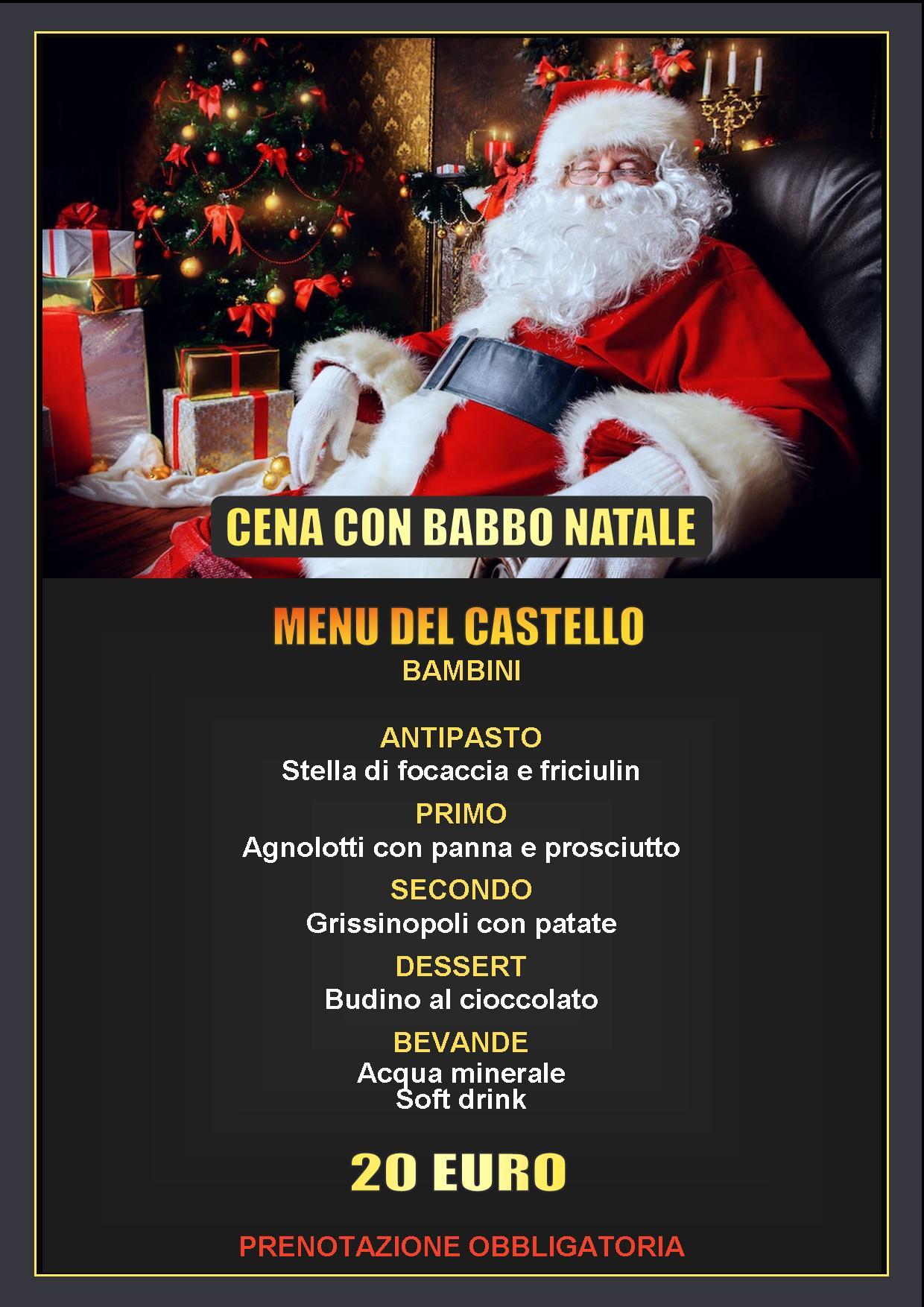 Descrizione Di Babbo Natale Per Bambini.Cena Con Babbo Natale Al Castello Di Monticello D Alba Cn Per Una